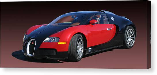 Car-jacking Canvas Print - 2010 Bugatti Veyron E. B. Sixteen by Jack Pumphrey