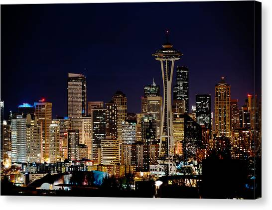 2010 Seattle Earth Hour A350 Canvas Print by Yoshiki Nakamura