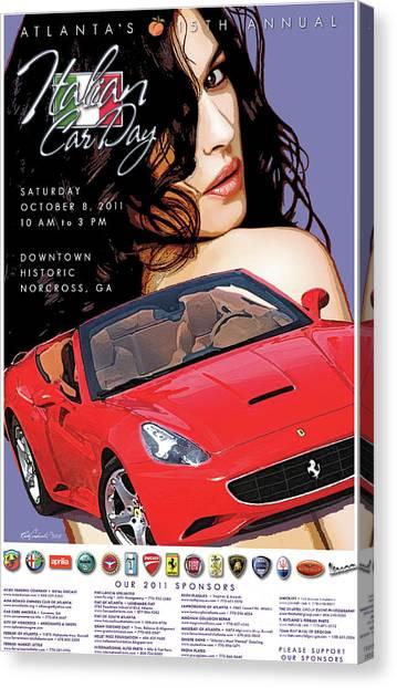 2011 Atlanta Italian Car Day Poster Canvas Print