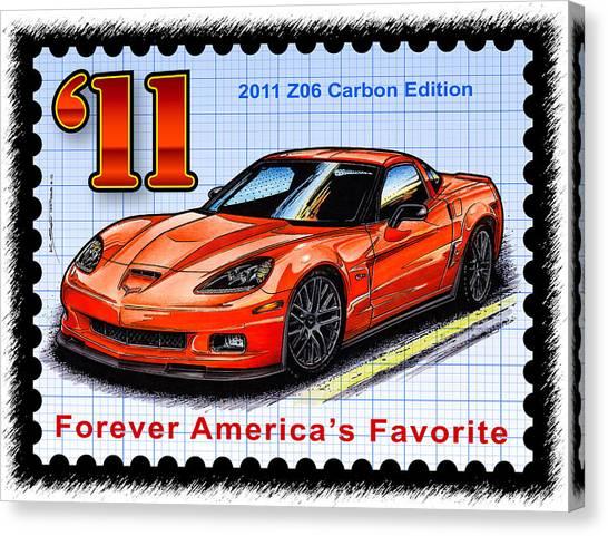 2011 Z06 Carbon Edition Corvette Canvas Print