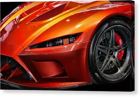 Jeff Gordon Canvas Print - 2012 Falcon Motor Sports F7 Series 1  by Gordon Dean II