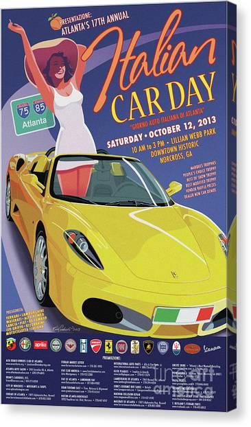 2013 Atlanta Italian Car Day Poster Canvas Print