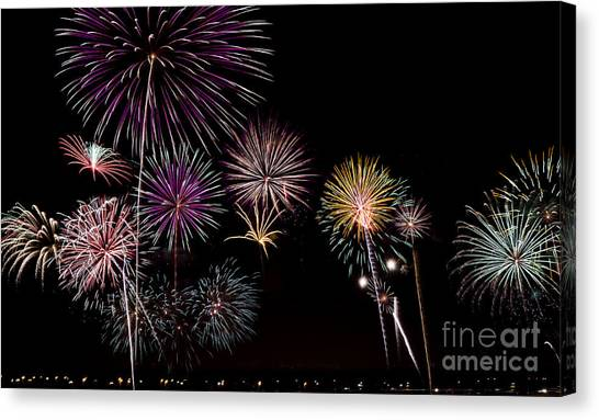 2013 Fireworks Over Alton Canvas Print