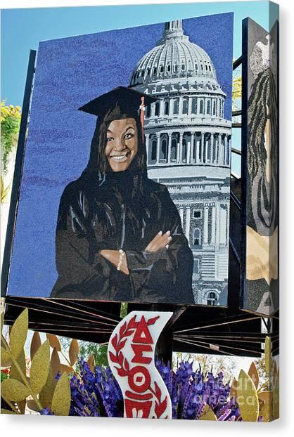 Delta Sigma Theta Canvas Print - 2013 Rose Parade 13rp040 by Howard Stapleton