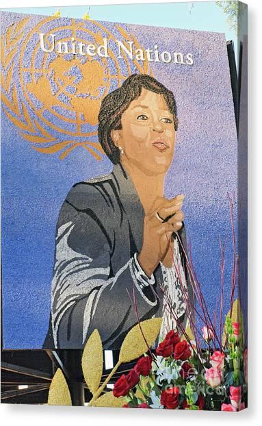 Delta Sigma Theta Canvas Print - 2013 Rose Parade Rp004 by Howard Stapleton