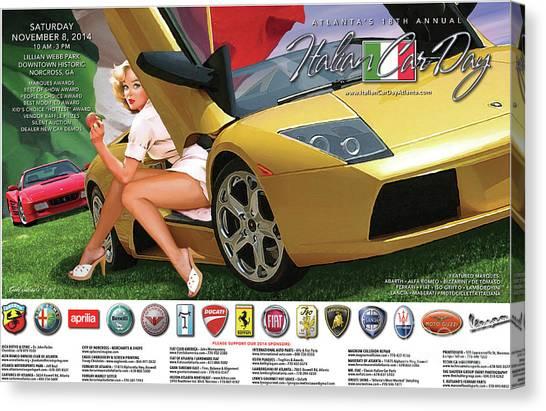 2014 Atlanta Italian Car Day Poster Canvas Print