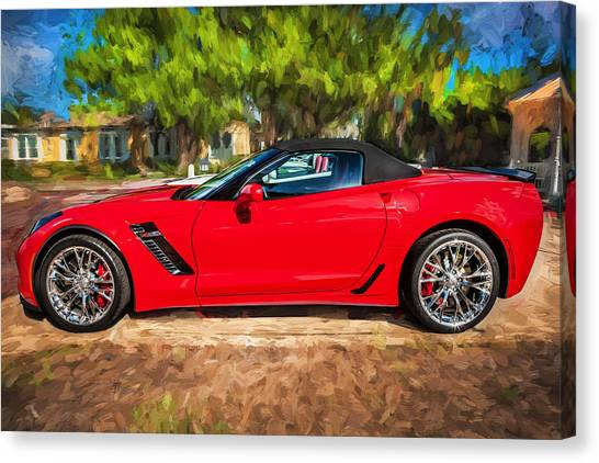 2015 Chevrolet Corvette Zo6 Painted  Canvas Print