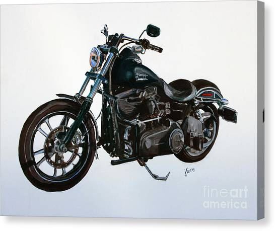 Ohio Valley Canvas Print - 2015 Harley Davidson Dyna by Janet Felts
