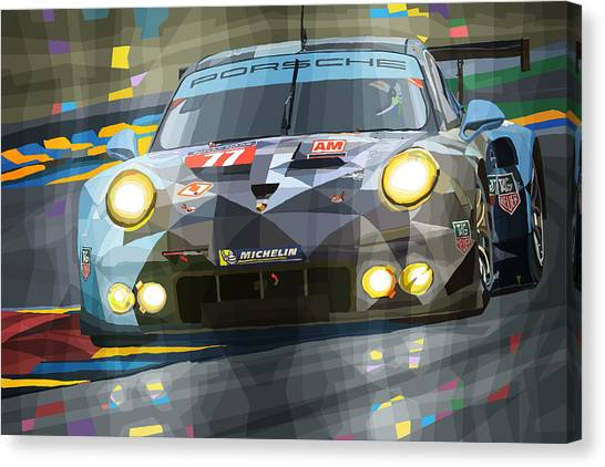 Cars Canvas Print - 2015 Le Mans Gte-am Porsche 911 Rsr by Yuriy Shevchuk