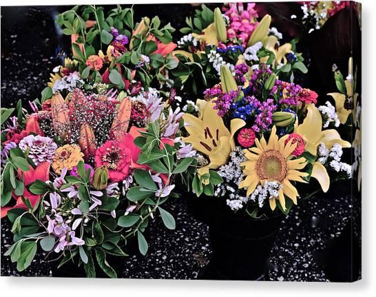 2015 Monona Farmers Market Flowers 1 Canvas Print