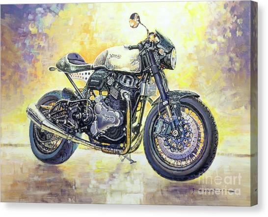 Automotive Art Canvas Print - 2015 Norton Dominator  by Yuriy Shevchuk