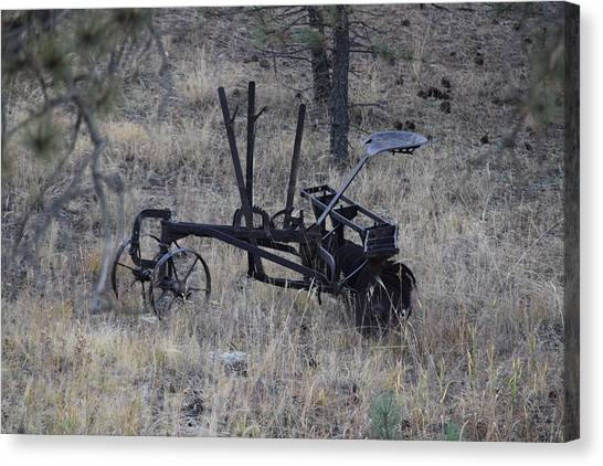 Old Farm Implement Lake George Co Canvas Print