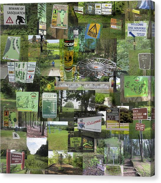 2015 Pdga Amateur Disc Golf World Championships Photo Collage Canvas Print