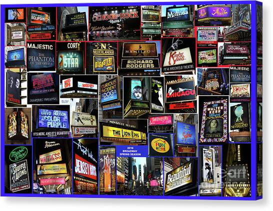 2016 Broadway Spring Collage Canvas Print