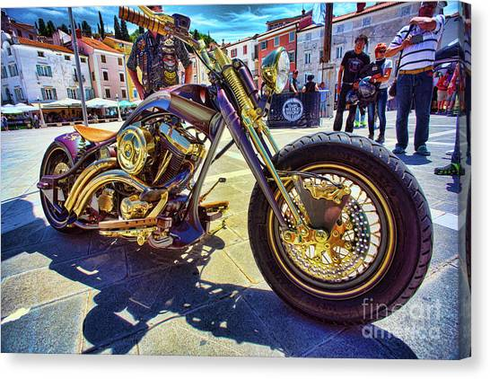 2016 Custom Harley Winner Canvas Print