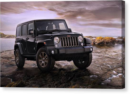Offroading Canvas Print - 2016 Jeep Wrangler 75th Anniversary Model by Movie Poster Prints