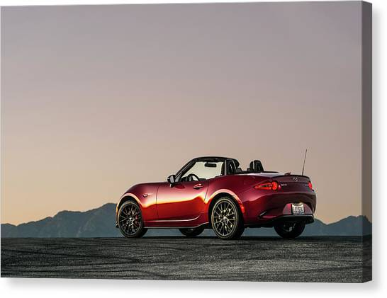 2016 Mazda Mx-5 Miata Canvas Print by Drew Phillips