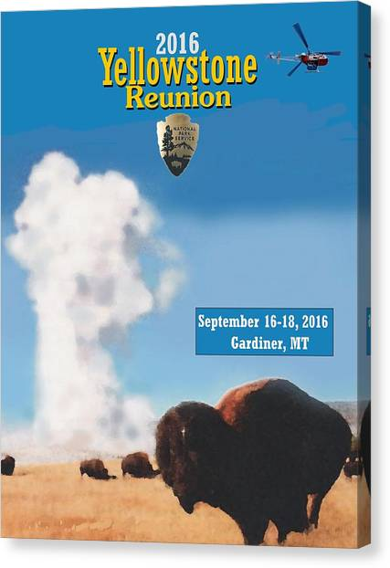 2016 Yellowstone Nps Reunion Canvas Print