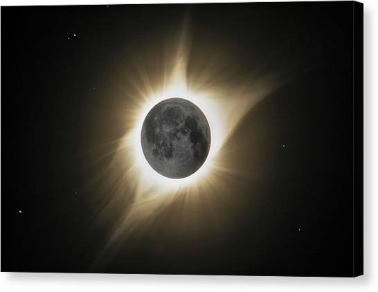 2017 Eclipse Hdr Canvas Print