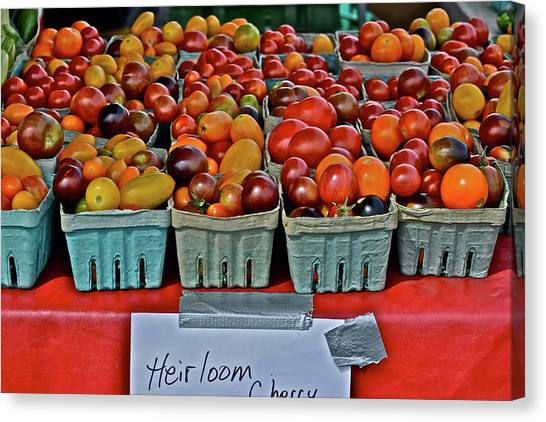 2017 Monona Farmers' Market August Heirloom Cherry Tomatoes Canvas Print
