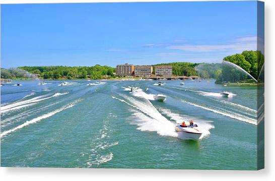 2017 Poker Run, Smith Mountain Lake, Virginia Canvas Print