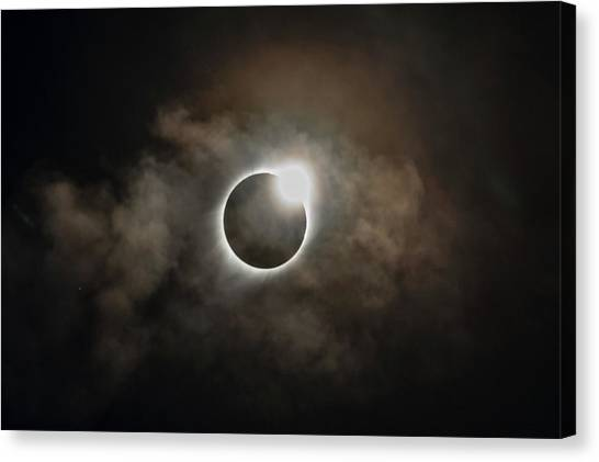 2017 Solar Eclipse Exit Ring Canvas Print