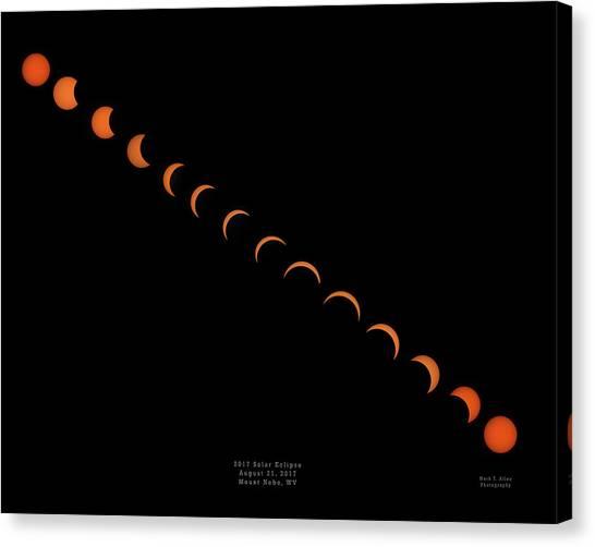 2017 Solar Eclipse Canvas Print