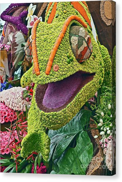 Cal Poly Canvas Print - Green Lizard 2017rp071 by Howard Stapleton