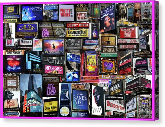2018 Broadway Spring Collage Canvas Print