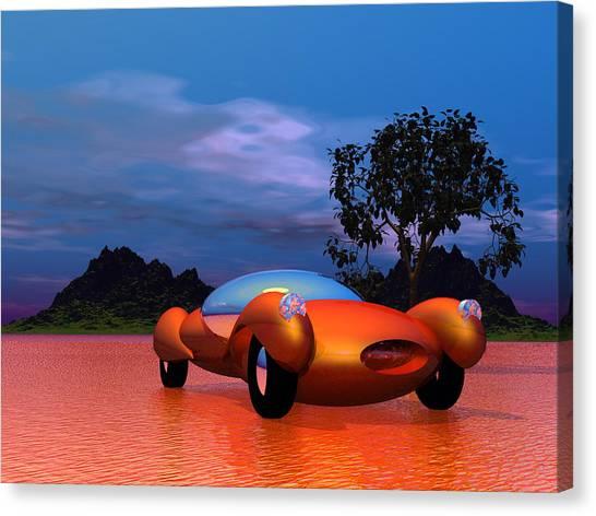 Bubble Cars Canvas Print   2020 Bubble Car Sportster By Mark Blauhoefer
