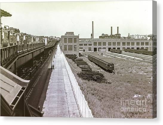 207th Street Subway Yards Canvas Print