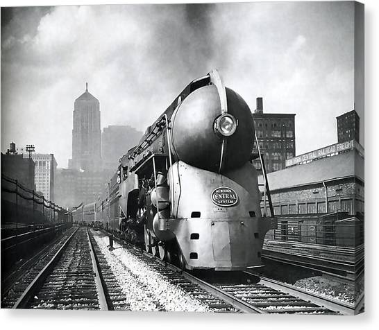 Trainspotting Canvas Print - 20th Century Limited Streamlined Train  1939 by Daniel Hagerman