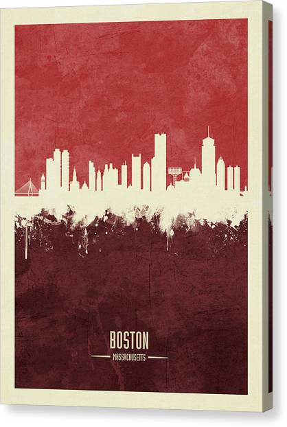 Boston Canvas Print - Boston Massachusetts Skyline by Michael Tompsett