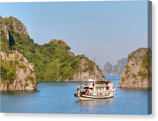 Cruise Ships Canvas Print - Halong Bay - Vietnam by Joana Kruse