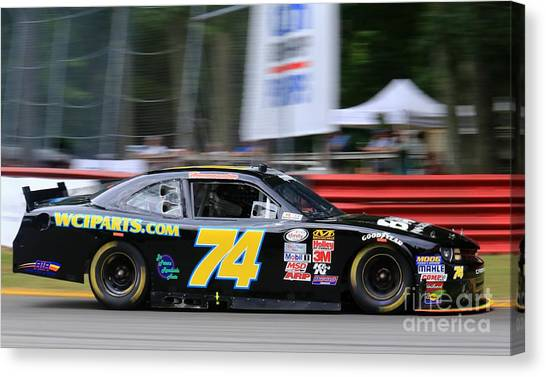Richard Childress Canvas Print - Chevrolet Camaro Nascar Racing by Douglas Sacha