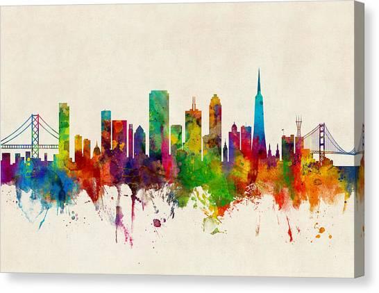 San Francisco Canvas Print - San Francisco City Skyline by Michael Tompsett