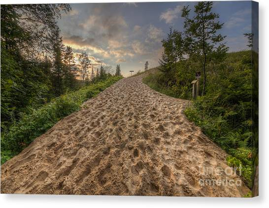 Northern Michigan Canvas Print - Sleeping Bear Point Trail by Twenty Two North Photography