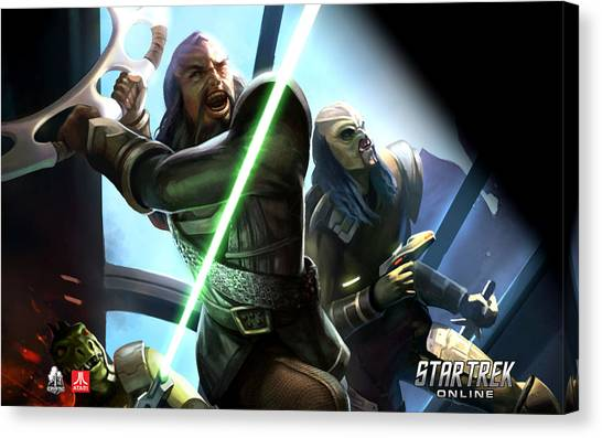 Star Wars Canvas Print - Star Trek by Maye Loeser