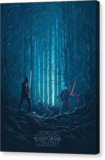 Chewbacca Canvas Print - Star Wars Episode Vii - The Force Awakens 2015 by Geek N Rock