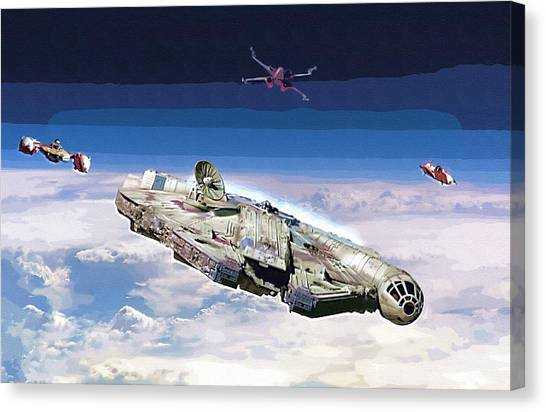 C-3po Canvas Print - Star Wars Saga Poster by Larry Jones