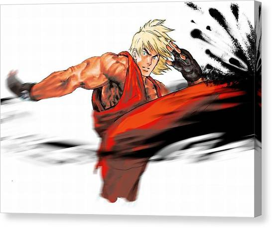Street Fighter Canvas Print - 21144 Street Fighter by Mery Moon