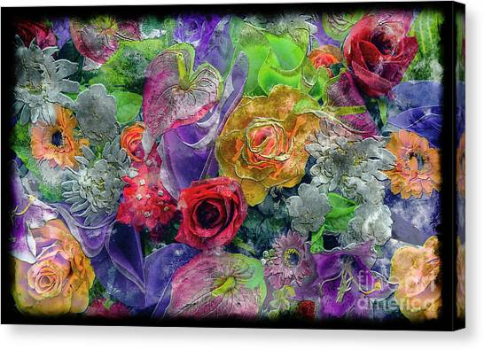 21a Abstract Floral Painting Digital Expressionism Canvas Print