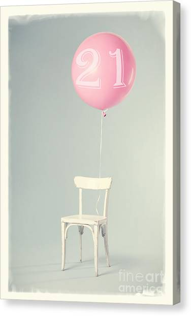 Happy Birthday Canvas Print - 21th Birthday by Edward Fielding