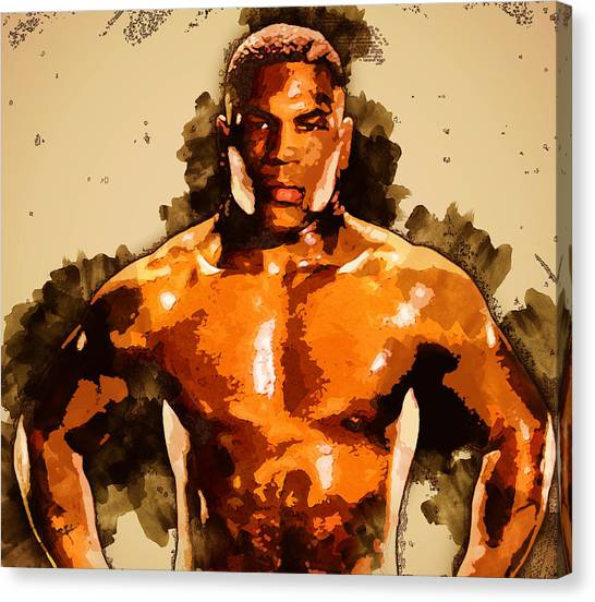 Mike Tyson Canvas Print - Mike Tyson by William Cline