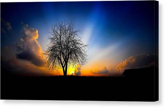 Sunrise Horizon Canvas Print - Sky by Jackie Russo