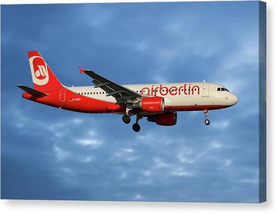 Berlin Canvas Print - Air Berlin Airbus A320-214 by Smart Aviation