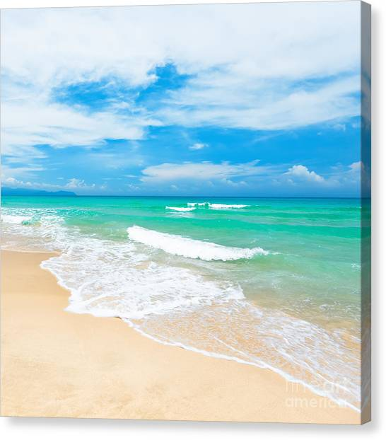 Sunlight Canvas Print - Beach by MotHaiBaPhoto Prints