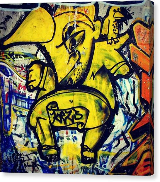 Rhinos Canvas Print - Check Out For More Hot #streetstuff by Urban Artworkz