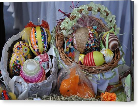 Fruit Baskets Canvas Print - Easter by Jackie Russo