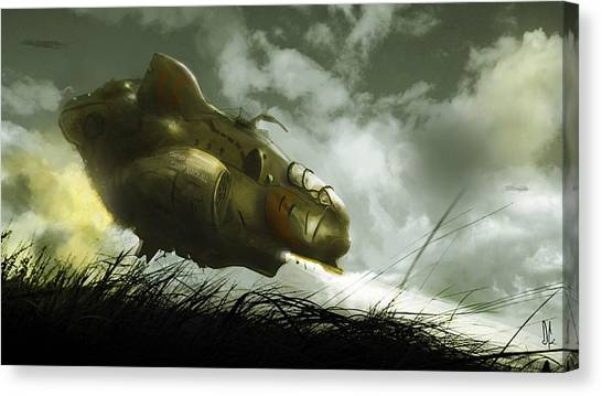 Submarine Canvas Print - Spaceship by Super Lovely